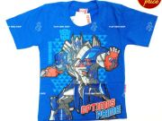 เสื้อผ้าเด็ก คุณภาพดี ราคาถูก - เสื้อคอกลมเด็ก ลาย Transformer TFM-255-BL เริ่มที่ 150 บาท