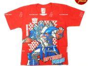 เสื้อผ้าเด็ก คุณภาพดี ราคาถูก - เสื้อคอกลมเด็ก ลาย Transformer TFM-255-RE เริ่มที่ 150 บาท