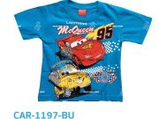 หาซื้อเสื้อผ้าเด็กอยู่หรือป่าว - เสื้อคอกลมเด็ก ลายคาร์ CAR-1197-BU เริ่มที่ 160 บาท