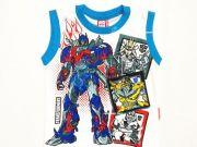 หาซื้อเสื้อผ้าเด็กอยู่หรือป่าว - เสื้อแขนกุดเด็ก ลาย Transformer TFM-292-BU เริ่มที่ 120 บาท