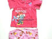 เสื้อผ้าเด็ก คุณภาพพรีเมี่ยม - ชุดนอนเด็ก ลายมินนี่เม้าส์แขนสั้นขาสั้น MN-1777-DKPI เริ่มที่ 270 บาท