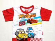 เสื้อผ้าเด็ก คุณภาพพรีเมี่ยม - เสื้อคอกลมเด็ก CARS CAR-1196-RE เริ่มที่ 150 บาท