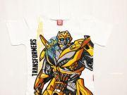 เสื้อผ้าเด็ก คุณภาพพรีเมี่ยม - เสื้อคอกลมเด็ก ลาย Transformer TFM-268-WH เริ่มที่ 140 บาท