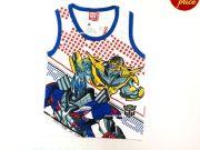 เสื้อผ้าเด็ก คุณภาพพรีเมี่ยม - เสื้อแขนกุด Transformer TFM-329-BL เริ่มที่ 130 บาท
