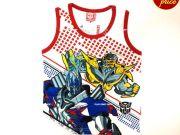 เสื้อผ้าเด็ก คุณภาพพรีเมี่ยม - เสื้อแขนกุด Transformer TFM-329-RE เริ่มที่ 130 บาท