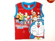 เสื้อผ้าเด็ก คุณภาพพรีเมี่ยม - เสื้อแขนกุด โดราเอมอน DRM-2031-RE เริ่มที่ 150 บาท