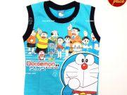 เสื้อผ้าเด็ก คุณภาพพรีเมี่ยม - เสื้อแขนกุด โดราเอมอน DRM-2031-BU เริ่มที่ 150 บาท