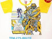 เสื้อผ้าเด็ก คุณภาพพรีเมี่ยม - เสื้อคอกลมเด็ก ลาย Transformer TFM-275-WHYE เริ่มที่ 150 บาท