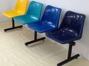 เก้าอี้โพลี แบบ 4 ที่นั่งโครงเหล็กเพียง 1950 บาท ติดต่อ 0993260005