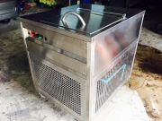 เครื่องปั่นไอศกรีมถังไอติมไฟฟ้า เย็นจัด ด้วยระบบคอมเพรสเซอร์ไม่ง้อเกลือน้ำแข็ง