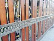 ประตูรั้วสแตนเลสรั้วสแตนเลสประตูสแตนเลสหลังคาไวนิล ฝีมือดี ราคาถูก