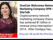 When you invest in OneCoin