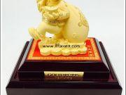 ลิงขนถุงทอง ของขวัญมงคล ทองพ่นทราย Gold 9999