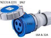 3 Poles 230V 16A32A IP67