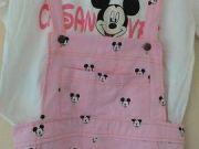 เสื้อชุดเอี้ยมขายาว Casnovee SIZE XL สีชมพู Micky mouse