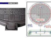 PSD ตะแกรงฝาบ่อครอบท่อเหล็กหล่อเหนียว Manhole Cover Ductile Cast iron